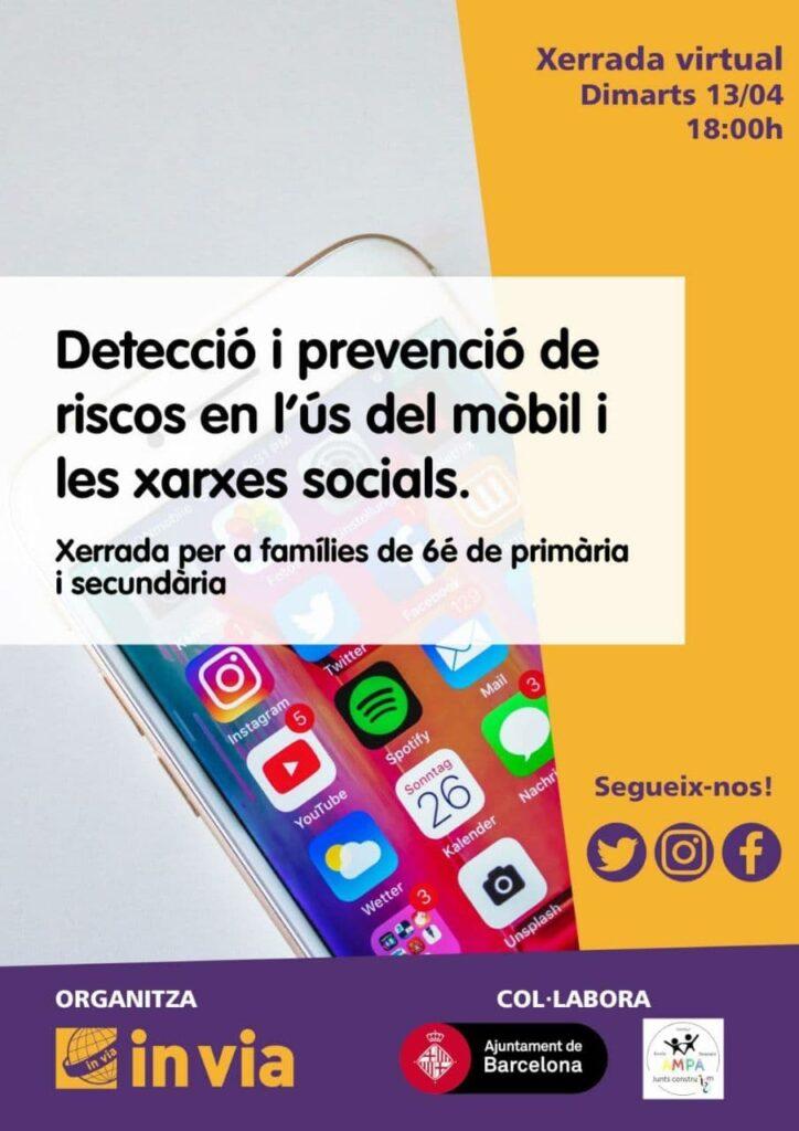 Detecció i prevenció de riscos en l'ús del mòbil i les xarxes socials.